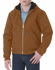 Dickies Youth Sanded Duck Hooded Jacket - Brown Duck