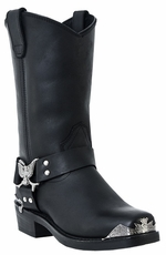 "Dingo Men's 12"" Eagle Harness Boots - Black (Closeout)"
