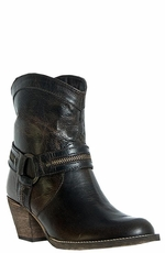 "Dingo Women's Metro 7"" Zipper Harness Boots - Chocolate"