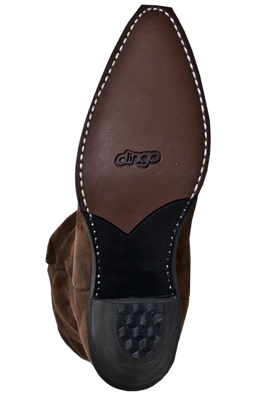 "Dingo Womens Muse 15"" Slouch Cowboy Boots - Brown"