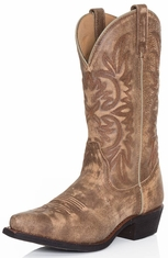 Dingo Womens Wyldwood Cowboy Boots - Tan Crackle (Closeout)