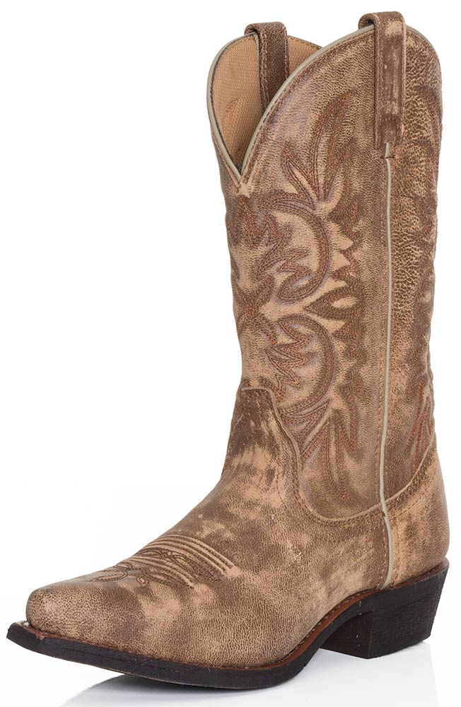 Dingo Womens Wyldwood Cowboy Boots - Tan Crackle