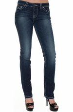 District 9 Women's Jett Straight Leg Jeans - Roadrunner