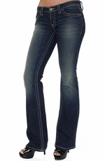 District 9 Women's Joplin Flared Leg Jeans - Boogie