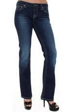 District 9 Women's Slick Boot Cut Jeans - Malibu
