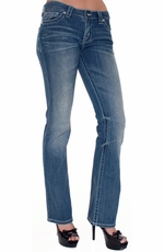 District 9 Women's Slick Boot Cut Jeans - Matrix (Closeout)