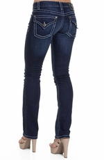 District 9 Womens Jett Straight Leg Jeans - Clover