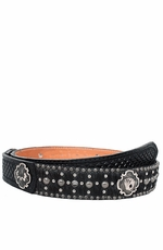 Double J Saddlery Men's Tooled Cross Belt with Ladies and Aces Conchos (Closeout)