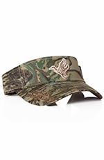 "Duck Dynasty Mens ""Duck"" Logo Visor - Camo"