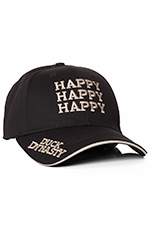 "Duck Dynasty Mens ""Happy"" Logo Cap - Black (Closeout)"