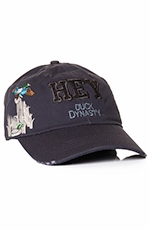 "Duck Dynasty Mens ""Hey"" Logo Cap - Navy (Closeout)"