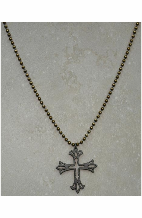 Dude Gear Men's Cross Cutout Necklace
