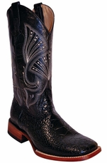 "Ferrini Men's Sea Turtle Print 13"" Square Toe Cowboy Boots - Black"