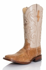 "Ferrini Women's Cowhide 12"" Square Toe Boots - Antique Saddle (Closeout)"