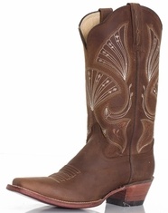 Ferrini Women's D-Toe Boots - Chocolate