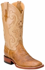 "Ferrini Women's Distressed Kangaroo 12"" Square Toe Cowboy Boots - Antique Saddle"