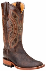 "Ferrini Women's Distressed Kangaroo 12"" Square Toe Cowboy Boots - Chocolate"