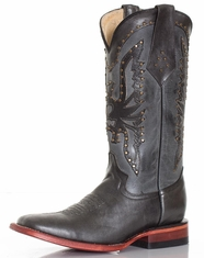 Ferrini Women's Square Toe Phoenix Boots - Black