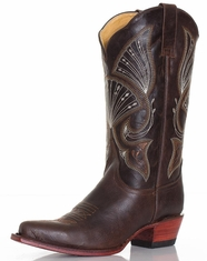Ferrini Women's V-Toe Boots - Chocolate