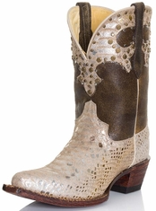 Ferrini Womens Cowgirl Glam Cowboy Boots - Silver (Closeout)