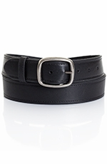 Five Star Men's Basic Leather Belt - Black