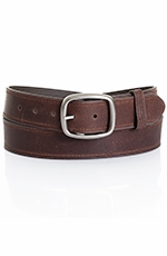 Five Star Men's Basic Leather Belt - Brown (Closeout)