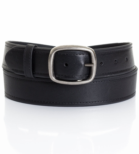 Five Star Men's Basic Leather Belt - Black (Closeout)