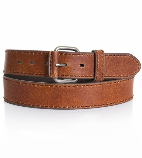 Five Star Mens Basic Leather Belt - Brown (Closeout)
