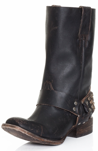 Freebird by Steven Womens Thompson Cowboy Boots - Black (Closeout)