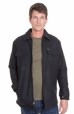 Grizzly Mens Bison Heavyweight Cruiser Coat - Coal
