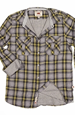 Dakota Grizzly Mens Brewer Plaid Western Shirt - Mango (Closeout)