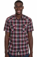 Grizzly Mens Brodi Western Shirt - Raddish