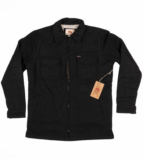 Dakota Grizzly Mens Bison Cruiser Coat - Coal