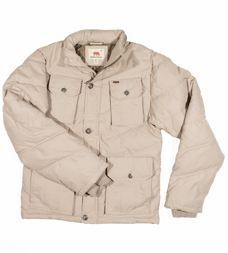 Dakota Grizzly Mens Derek Sanded Twill Coat - Khaki (Closeout)