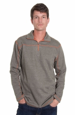 Grizzly Mens Colton Zip Over Shirt - Moss (Closeout)