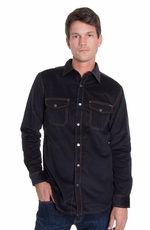 Grizzly Mens Cory Cord Shirt Jacket - Ink (Closeout)
