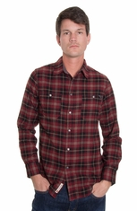 Grizzly Mens Easton Western Shirt - Brick