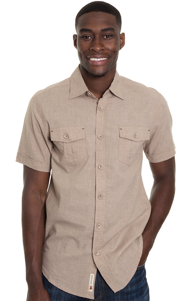 Grizzly Mens Emerson Western Shirt - Cork (Closeout)