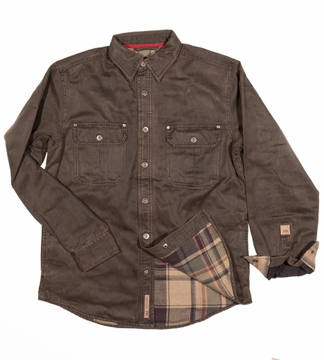 Dakota Grizzly Mens Dalton Flannel Lined Jacket - Tobacco