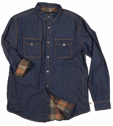 Dakota Grizzly Mens Spencer Denim Shirt Jacket - Indigo (Closeout)