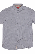 Dakota Grizzly Mens Nate Short Sleeve Check Button Down Shirt - Ink