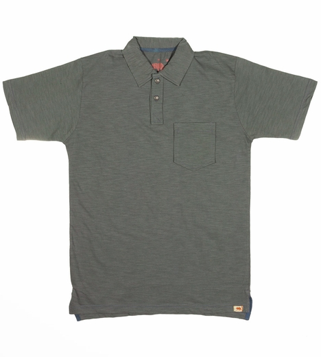 Dakota Grizzly Mens Asher Short Sleeve Solid Polo Shirt - Graphite