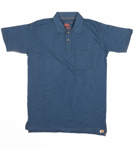 Dakota Grizzly Mens Asher Short Sleeve Solid Polo Shirt - Lake