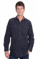 Grizzly Mens Ranger Heavy Weight  Shirt - Steel