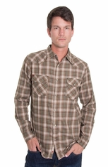 Grizzly Mens Trevor Western Shirt - Tea (Closeout)