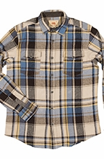 Dakota Grizzly Mens Turner American Heritage Plaid Western Shirt - Harbor (Closeout)