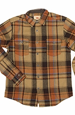 Dakota Grizzly Mens Turner American Heritage Plaid Western Shirt - Squash