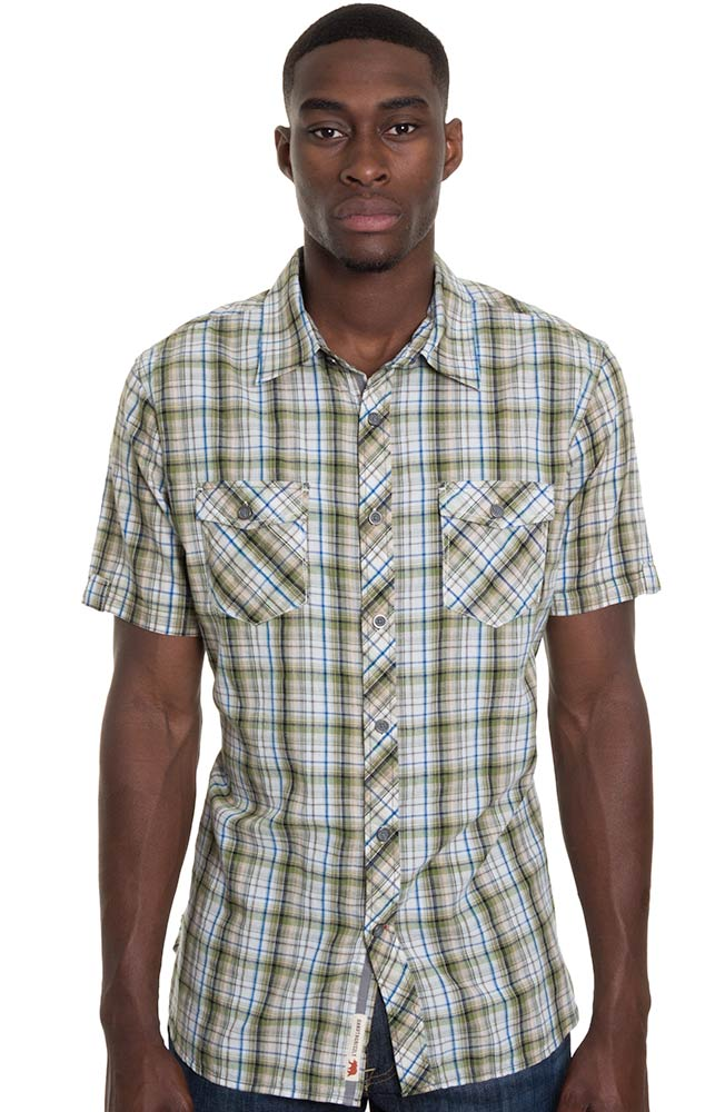 Grizzly Mens Wendall Western Shirt - Clover (Closeout)