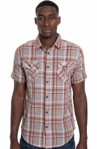 Grizzly Mens Dixon Western Shirt - Adobe