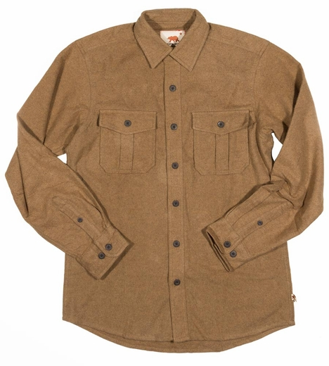 Dakota Grizzly Mens Ranger Heavy Weight Western Shirt - Bison